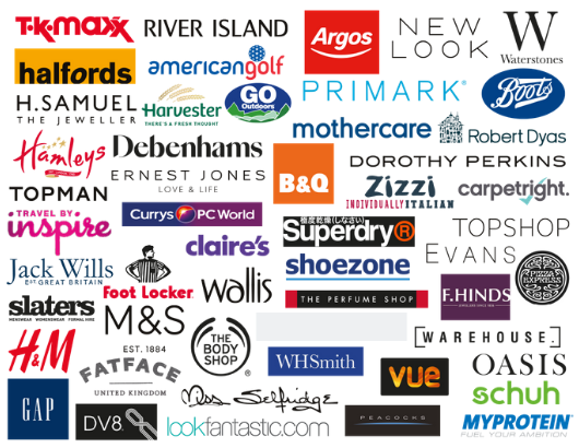 One4all Gift Cards Retailers - UK
